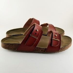 MADDEN GIRL Double Strap Buckle-Free Sandals